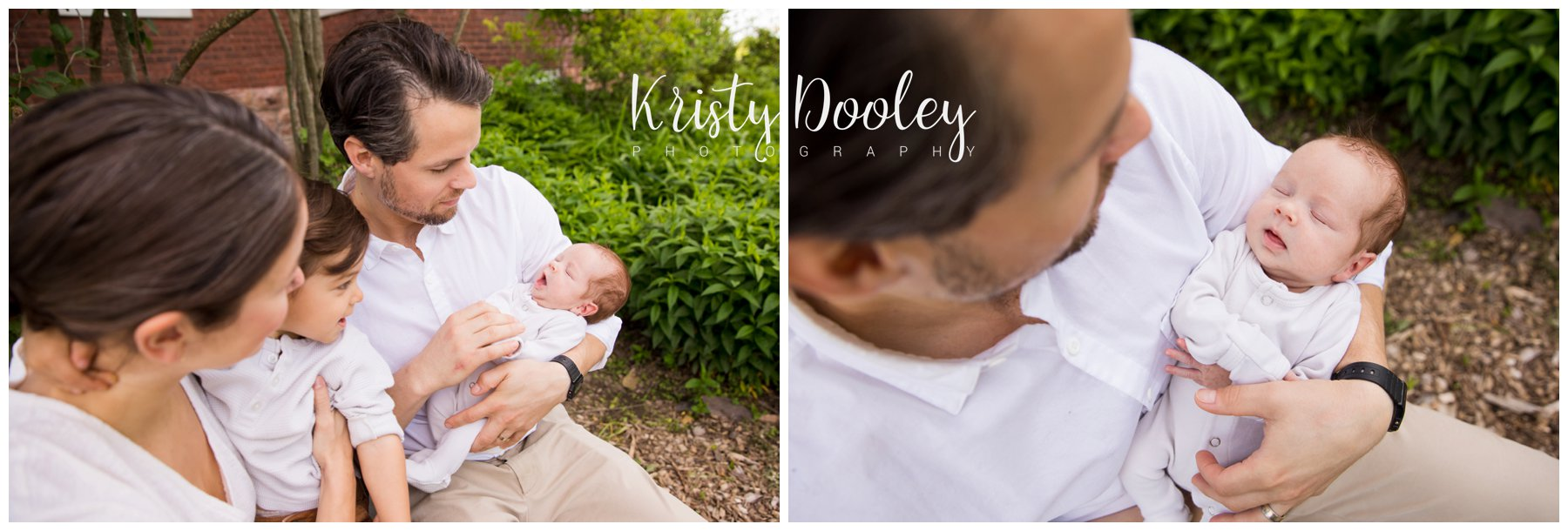 family outdoor newborn session